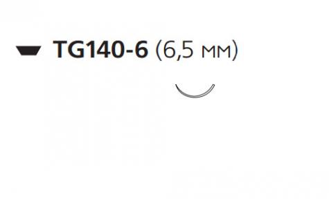 Викрил (Vicryl) 9/0, длина 10см, 2 шпательные иглы 6,5мм W1703