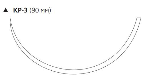 Нерассасывающийся шовный материал Этибонд Эксель (Ethibond Excel) 1, длина 100см, реж. игла 90мм, 3/8 окр., зеленая нить (W998) Ethicon (Этикон)