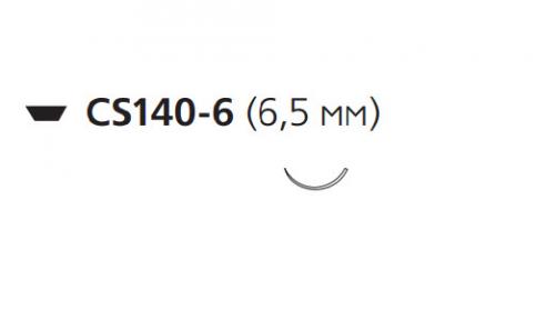 Викрил (Vicryl) 10/0, длина 10см, шпательная игла 6,5мм V960G