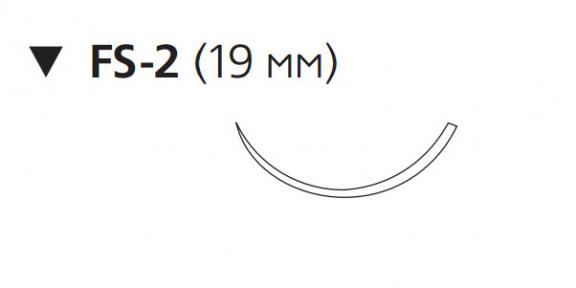 Рассасывающийся шовный материал Монокрил (Monocryl) 3/0, длина 70см, обр-реж. игла 19мм, 3/8 окр., неокрашенная нить (W3202) Ethicon (Этикон)