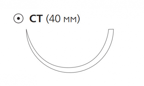 Монокрил Плюс (Monocryl Plus) 1, длина 90см, кол. игла 40мм MCP4959H