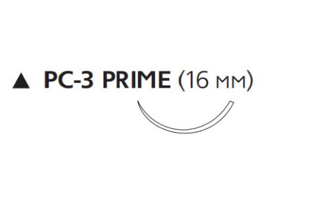 Викрил Плюс (Vicryl Plus) 3/0, длина 45см, реж. игла 16мм Prime VCP9507H