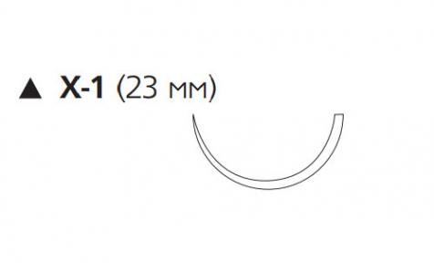 Викрил (Vicryl) 3/0, длина 45см, реж. игла 23мм W9741