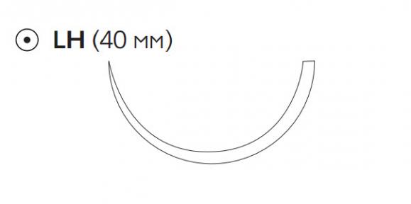 Рассасывающийся шовный материал Викрил (Vicryl) 2/0, длина 75см, кол. игла 40мм, 1/2 окр., фиолетовая нить (W9150) Ethicon (Этикон)