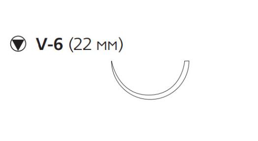Викрил (Vicryl) 3/0, длина 70см, кол-реж. игла 22мм V277H