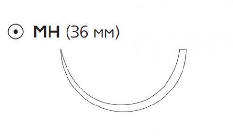 Монокрил (Monocryl) 1, длина 70см, кол. игла 36мм W3457