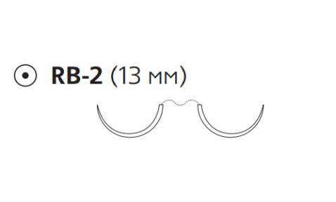 ПДС II (PDS II) 5/0, длина 70см, 2 кол. иглы 13мм W9201H