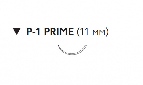 Викрил (Vicryl) 5/0, длина 45см, обр-реж. игла 11мм Prime, 3/8 окр., неокрашенная нить (W9501T)
