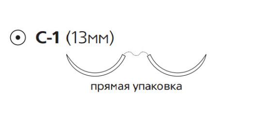 Пролен (Prolene) 6/0, 4шт. по 60см, 2 кол. иглы 13мм M8726