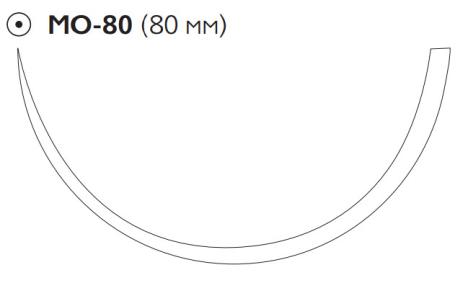 Викрил Плюс (Vicryl Plus) 1, длина 100см, кол. игла 80мм VCP9289G