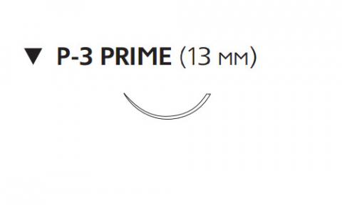 Нерассасывающийся шовный материал Пролен (Prolene) 6/0, длина 45см, обр-реж. игла 13мм Prime, 3/8 окр. (W8871T) Ethicon (Этикон)