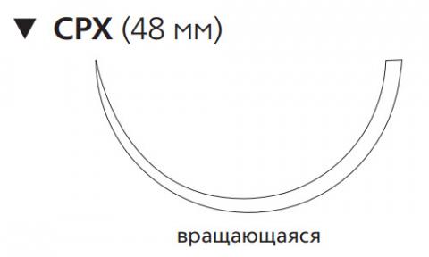 Хирургическая проволока (Surgical Steel) 7, 4шт по 45см, обр-реж. игла 48мм M624G