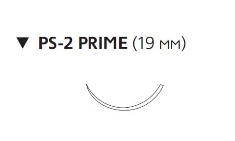 Этилон (Ethilon) 4/0, длина 75см, обр-реж. игла 19мм Prime, 3/8 окр., синяя нить (W1619T)