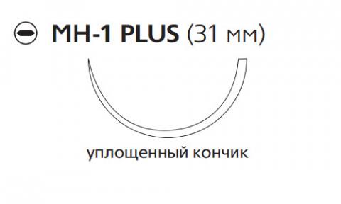 Рассасывающийся шовный материал с антибактериальным покрытием Викрил Плюс (Vicryl Plus) 2/0, длина 70см, кол. игла 31мм, 1/2 окр., уплощенный кончик, фиолетовая нить (VCP320H) Ethicon (Этикон)