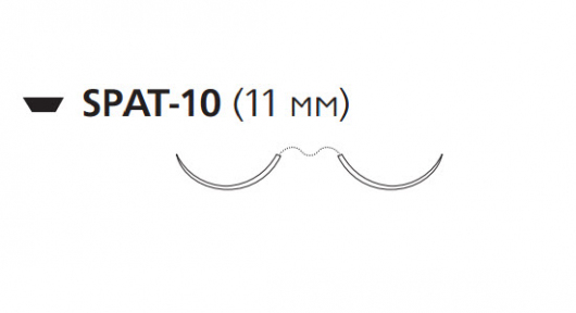 Викрил (Vicryl) 4/0, длина 45см, 2 шпательные иглы 11мм W9762