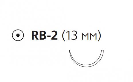 Викрил (Vicryl) 5/0, длина 45см, кол. игла 13мм W9982