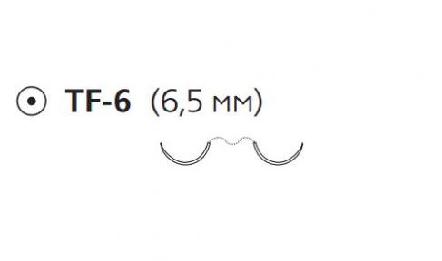 Пролен (Prolene) 7/0, длина 45см, 2 кол. иглы 6,5мм EH7813E