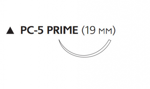 Рассасывающийся шовный материал с антибактериальным покрытием Викрил Плюс (Vicryl Plus) 3/0, длина 70см, реж. игла 19мм Prime, 3/8 окр., неокрашенная нить (VCP9571H) Ethicon (Этикон)