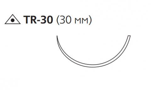 Пролен (Prolene) 1, длина 100см, троакарная игла 30мм, 1/2 окр. (W8440)