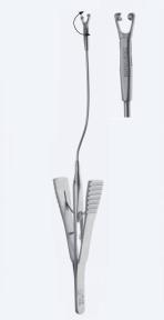 Зажим (клипсодержатель, клипаппликатор) для наложения сосудистых клипс Yasargil Phynox (Яшаргил Финокс) YA1379