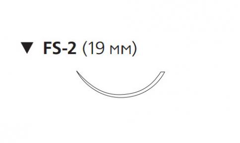 Нерассасывающийся шовный материал Пролен (Prolene) 4/0, длина 45см, обр-реж. игла 19мм, 3/8 окр. (W8683) Ethicon (Этикон)