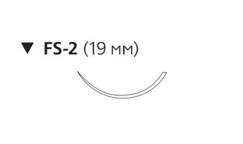 Пролен (Prolene) 4/0, длина 45см, обр-реж. игла 19мм W8683