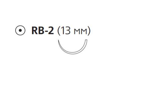 Рассасывающийся шовный материал с антибактериальным покрытием Монокрил Плюс (Monocryl Plus) 6/0, длина 45см, кол. игла 13мм, 1/2 окр., фиолетовая нить (MCP3224G) Ethicon (Этикон)