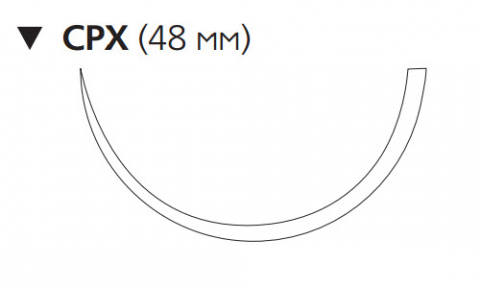 ПДС Плюс (PDS Plus) 1, длина 90см, обр-реж. игла 48мм PDP9299H