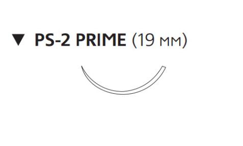 Монокрил Плюс (Monocryl Plus) 4/0, длина 45см, обр-реж. игла 19мм Prime, 3/8 окр., неокрашенная нить (MCP496H)