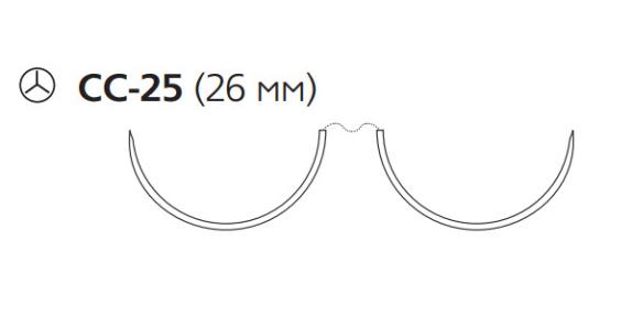 Нерассасывающийся шовный материал Пролен (Prolene) 3/0, длина 120см, 2 кол. иглы 26мм CC, для кальцинирования сосудов, 1/2 окр. (W8895) Ethicon (Этикон)