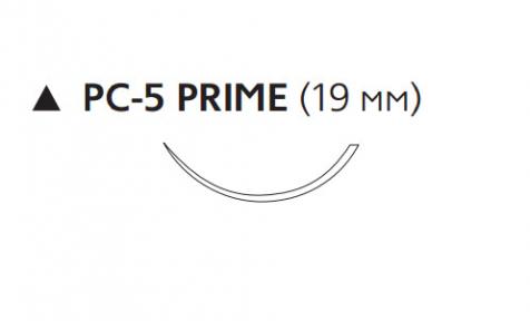 Нерассасывающийся шовный материал Пролен (Prolene) 4/0, длина 45см, реж. игла 19мм Prime, 3/8 окр. (W8011T) Ethicon (Этикон)