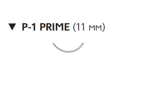 Пролен (Prolene) 6/0, длина 45см, обр-реж. игла 11мм Prime W8868T