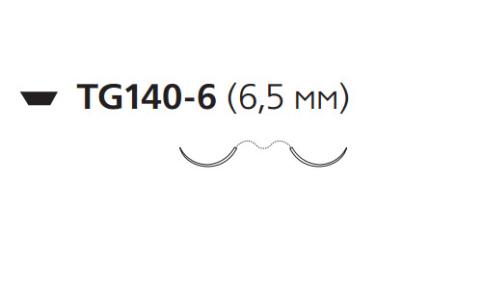 Нерассасывающийся шовный материал Мерсилен (Mersilene) 10/0, длина 30см, 2 шпательные иглы 6,5мм, 3/8 окр., зеленая нить (W1775) Ethicon (Этикон)