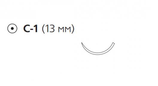 Викрил (Vicryl) 4/0, длина 60см, кол. игла 13мм W9067
