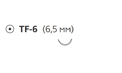 Нерассасывающийся шовный материал Пролен (Prolene) 6/0, длина 30см, кол. игла 6,5мм, 1/2 окр. (EH7812E) Ethicon (Этикон)
