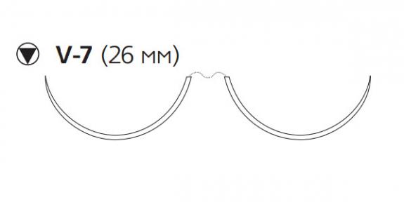 Пролен (Prolene) 2/0, длина 90см, 2 кол-реж. иглы 26мм W8977