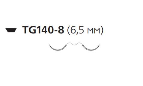 Нерассасывающийся шовный материал Этилон (Ethilon) 10/0, длина 30см, 2 шпательные иглы 6,5мм, 3/8 окр., черная нить (7718G) Ethicon (Этикон)