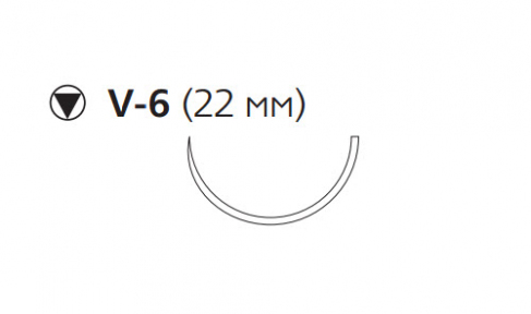 Рассасывающийся шовный материал с антибактериальным покрытием Викрил Плюс (Vicryl Plus) 2/0, длина 70см, кол-реж. игла 22мм, 1/2 окр., фиолетовая нить (VCP278H) Ethicon (Этикон)