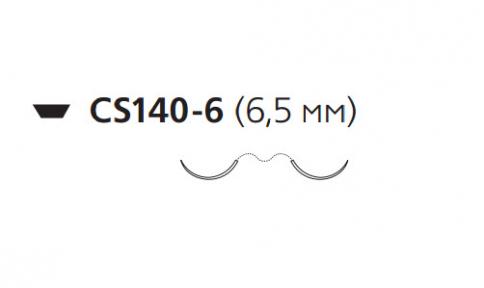 Этилон (Ethilon) 10/0, длина 30см, 2 иглы 6,5мм U7003