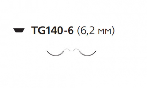 Пролен (Prolene) 10/0, длина 30см, 2 иглы 6,2мм W1777