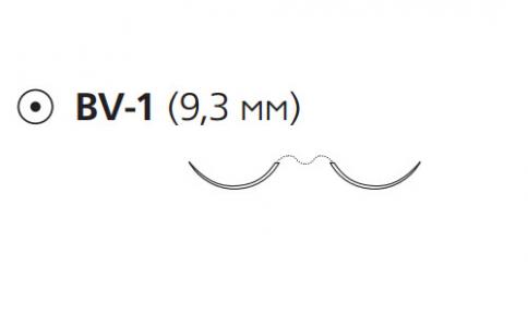 Пролен (Prolene) 6/0, длина 60см, 2 кол. иглы 9,3мм BV-1 W8712