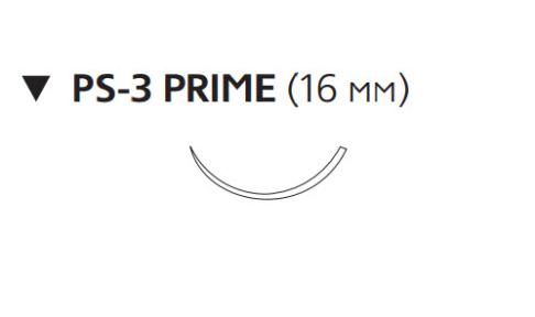 Рассасывающийся шовный материал с антибактериальным покрытием Монокрил Плюс (Monocryl Plus) 5/0, длина 70см, обр-реж. игла 16мм Prime, 3/8 окр., неокрашенная нить (MCP500H) Ethicon (Этикон)