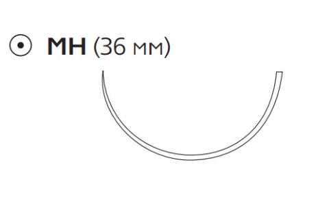 Нерассасывающийся шовный материал Пролен (Prolene) 2/0, длина 75см, кол. игла 36мм, 1/2 окр. (PG5674H) Ethicon (Этикон)
