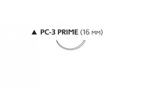 ПДС II (PDS II) 4/0, длина 45см, реж. игла 16мм Prime W9867T