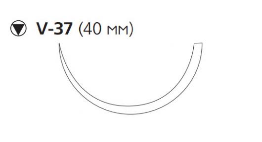 Викрил Рапид (Vicryl Rapide) 2/0, длина 90см, кол-реж. игла 40мм W9946
