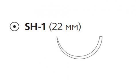 Викрил Рапид (Vicryl Rapide) 3/0, длина 75см, кол. игла 22мм W9974