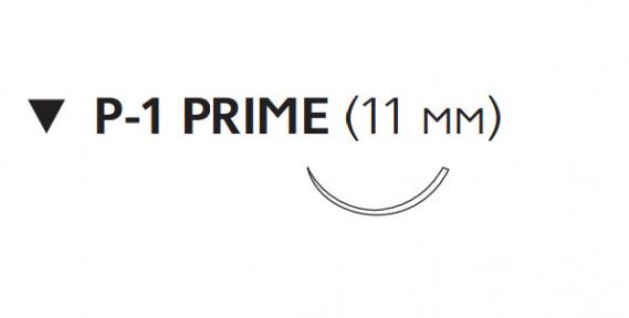 Рассасывающийся шовный материал Монокрил (Monocryl) 6/0, длина 45см, обр-реж. игла 11мм Prime, 3/8 окр., неокрашенная нить (W3214) Ethicon (Этикон)