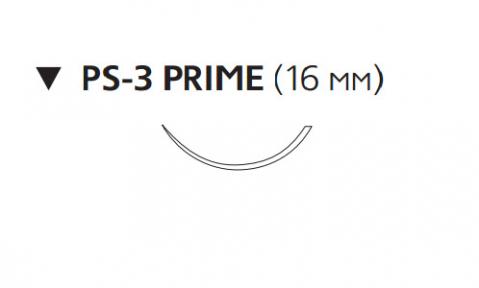 Нерассасывающийся шовный материал Пролен (Prolene) 4/0, длина 45см, обр-реж. игла 16мм Prime, 3/8 окр. (W8884T) Ethicon (Этикон)