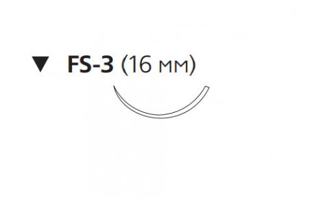 Викрил Плюс (Vicryl Plus) 3/0, длина 70см, обр-реж. игла 16мм VCP395H