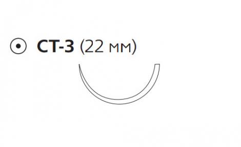 Рассасывающийся шовный материал с антибактериальным покрытием Викрил Плюс (Vicryl Plus) 2/0, длина 70см, кол. игла 22мм, 1/2 окр., фиолетовая нить (VCP328H) Ethicon (Этикон)